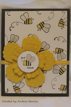bee card stampin up | Supplies (all Stampin' Up! ® unless otherwise noted) :