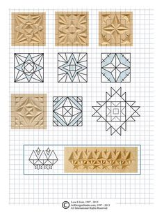 free chip carving pattern by Lora Irish