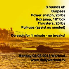 Monday 05.08.2013 workout @ www.dailyworkout.tv