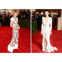 Anna Wintour and Rooney Mara at The Met Gala last night.