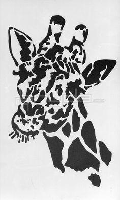 šablona BRS 41 - hlava žirafy