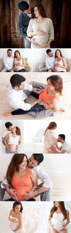 maternity photo ideas, maternity portrait, studio maternity poses, natural light maternity photography © Dimery Photography