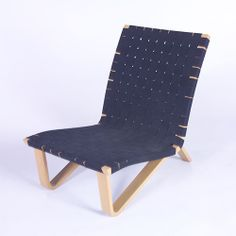 Clifford Pascoe; Bent Laminated Wood and Cotton Webbing Lounge Chair, c1950.