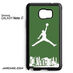Dark Green Cool Air Jordan City YG Phone case for samsung galaxy note 5 and another devices