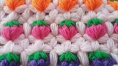 Tiğişi Çilek Lif / Crochet Strawberry Stitch