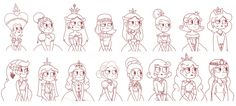 Queens of Mewni - Biography Paintings Sketch by jgss0109.deviantart.com on @DeviantArt