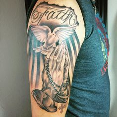 40 Images OF Praying Hands Tattoos - Way to God Check more at http://tattoo-journal.com/25-images-of-praying-hands-tattoos/