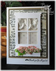 Splitcoast Stampers Ways to Use it Challenge (Windows & Doors) - Memory Box dies, Flowersoft and Our Daily Bread Designs stamp set, Serve the Lord