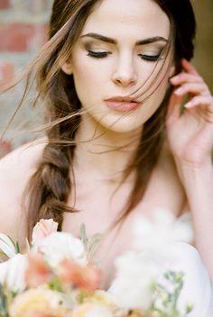 romantic wedding hair | braided wedding hair | loose organic wedding hair | organic wedding inspiration