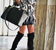 Heights&Layers: cardigan, overtheknee boots http://pearlsandrosesdiary.blogspot.gr/2014/11/heights-layers.html