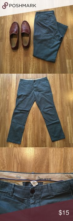 Men's GAP Lived-In Chino These pants are great and haven't been worn that much. They are a slim fit! Size 33X30 GAP Pants Chinos & Khakis