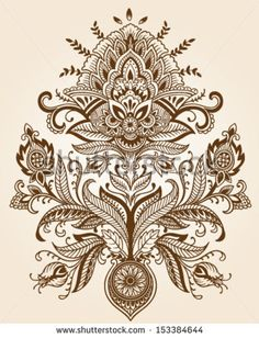 Henna Lace Paisley Flower Vector by Tairy Greene, via Shutterstock