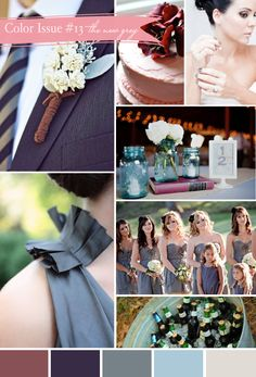 grey wedding...but with royal blue and shine