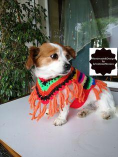 Crochet Dog Sweater, Crochet Poncho, Poncho Sweater, Hand Crochet, Crochet Hats, Dog Lover Gifts, Dog Lovers, Crochet Hat For Women, Dog Christmas Gifts