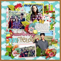 template : retake 4 templates by cindy schneider kit : picnic in the park by amber shaw & kelly bangs creative Apple Fruit, Strawberry Fields, Picnic In The Park, Worms, Templates, Scrapbook Layouts, Gallery, Paper, Bangs