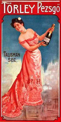 Törley Pezsgő Talisman Sec pezsgőgyár plakát