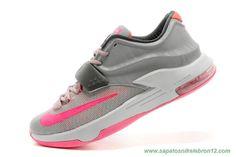 Nike KD VII Cinza Rosa Branco KDVII-029 Masculino venda de tenis on line