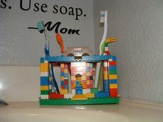 lego bathroom idea lego toothbrush holder - Boys Room Lego Ideas
