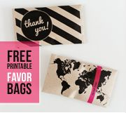 Favor bags / envelopes. #Party #Events #Office