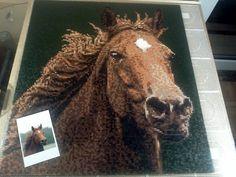 Hama / Perler Beads - Duchess - Morgan Horse by Kirikina on deviantart (ca. 70x70cm / 25.000 beads )