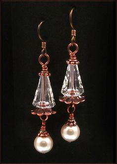 Artemis Pearl Earrings | Custom-designed Earring Project Kit | Harlequin Beads and Jewelry