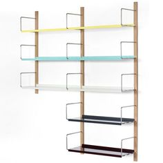 009 Croquet Shelving extendable storage system by Michael Marriott for Very Good & Proper at Clerkenwell Design Week Shelving Systems, Cd Shelving, Shelves, Airing Cupboard, Dezeen, Best Interior Design, Bookcases, Storage, Workplace