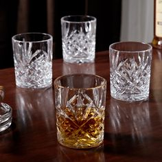 If you re look for a glass that matches the richness of your favorite Scotch or whiskey, our Dublin Cut crystal whiskey glasses fit the bill. Made of intricately cut crystal, our whisky glasses are...