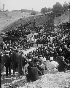 The founding of the Hebrew University in Jerusalem, 1923. Einstein gave the opening lecture.