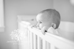 Baby boy, Wilmington NC Photographer, Baby in Crib, Lifestyle Photography, Baby Photos, 9 month old pictures.