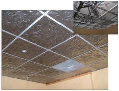Putting Wall Papper On Drop Ceiling Tiles Cover Ugly Drop