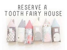 Would you like to reserve a tooth fairy house pillow? Please use this lisitng to pre-order for January 2015. I will begin production again on January