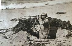 Dr. Jon C Phillips gunning over Elmer Crowell Shorebirds