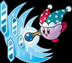 Despite popular belief this is NOT ice Kirby this is actually MIRROR Kirby! Nintendo Characters, Video Game Characters, Skylanders, Videogames, Kirby Character, Meta Knight, Cute Gif, Super Smash Bros, Game Art
