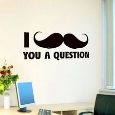 I'm not in to the whole mustache craze, but this is funny