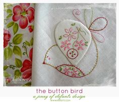 Looking for your next project? You're going to love Button Bird stitchery (with tutorial) by designer Elefantz. - via @Craftsy