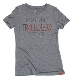 Trail Blazers Women's Celebrity Comfy Tri-Blend Tee