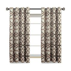 H.Versailtex Despot Lattice Blackout Grommet Curtains 2-Pack, Brown & Taupe