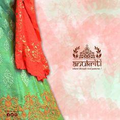 Make your celebration special by wearing this beautiful designer embroidery saree. #AnukritiWardrobe #EthnicWork #Design #Grace #KolkataWork #VisitUs #SudhirJain