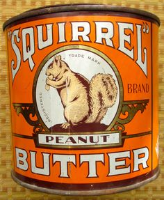 Peanut Butter Brands, Tins, Vintage Advertisements, Squirrel, Advertising, Canning, Antiques, Tin Cans, Antiquities