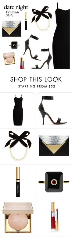 Hot Date Night Style by dressedbyrose on Polyvore featuring MaxMara, Givenchy, Dareen Hakim, Maiko Nagayama, Lulu Frost, Stila, Yves Saint Laurent, DateNight and polyvoreeditorial