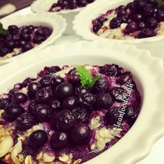 Wild Blueberry & Almond Baked Oatmeal Homemade Clean Eating Recipes http://cleanfoodcrush.com/blueberry-almond-oatmeal/ #CleanFood