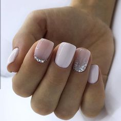 Trendy Square Nail Art Ideas For Short Acrylic These trendy Nail Designs ideas would gain you amazing compliments. Check out our gallery for more ideas these are trendy this year. Nails Trendy Square Nail Art Ideas For Short Acrylic Nails Pink Gel Nails, Short Gel Nails, New Year's Nails, French Manicure Short Nails, Gel Manicure, French Manicures, Nails French Design, White Short Nails, Short French Nails