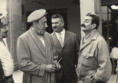 Guareschi insieme a Don Camillo e Peppone (Cervi e Fernandel)