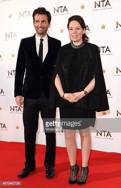 it's not the look of love, but the look of utter mischief from David Tennant, with co star, Olivia Colman. Such a contrast to his more reserved 'Hardy look. Yet, we all know that off set, they were both the biggest clown's of all! Like a couple of big kids! #NTA2015 #Broadchurch Source: GettyImages