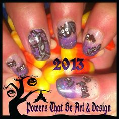 Powers That Be Art And Design, Nail Art, Done by hand, Halloween, nail Art…