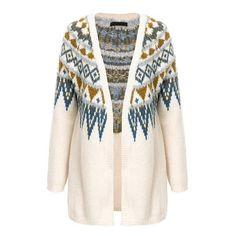277b5798b6 More ideas from ALIA MAXINE. Fair Isle Knitted Long Cardigan