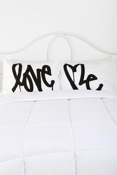 Love Me By Curtis Kulig Pillowcase - Set Of 2  #UrbanOutfitters