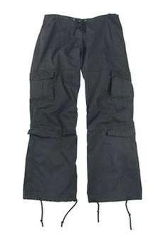 Womens Black Vintage Paratrooper Fatigues ! Buy Now at gorillasurplus.com