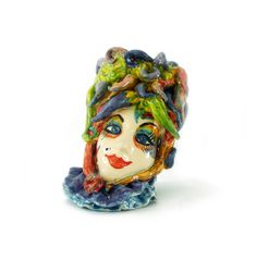 Handmade sculpture.  Material: Ceramics.  Size Height: 39cm Weight: 29cm Designer: Antonio Robustella Masterpiece 2013