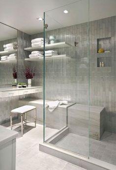 Love the shower stall w/o trim
